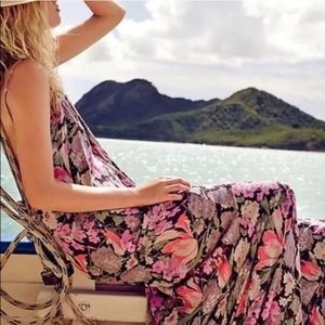 Free People One Floral Strappy Maxi